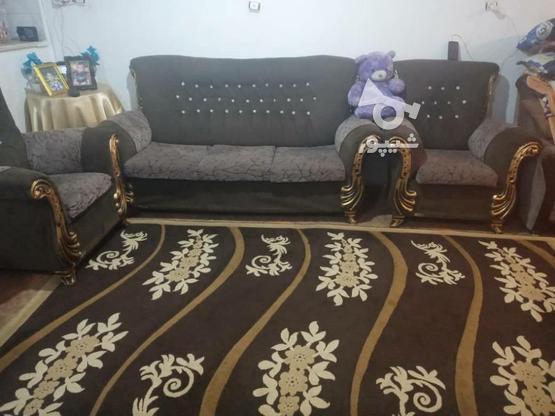 مبل راحتی هفت نفره با یک جفت فرش شیش متری  در گروه خرید و فروش لوازم خانگی در تهران در شیپور-عکس1