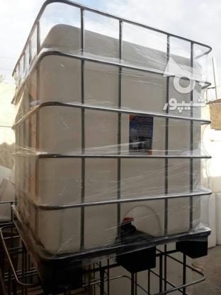 مخزن 1000 لیتری حفاظ دار IBC - تانکر و منبع مکعبی آب  در گروه خرید و فروش خدمات و کسب و کار در تهران در شیپور-عکس1