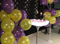 میز سوارز پایه استیل تولد بلند ایستاده نوری بلک لایت پارتی در شیپور-عکس کوچک
