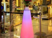میز سوارز مخروطی بلند تولد پارتی ال ای دی بلک لایت نوری  در شیپور-عکس کوچک