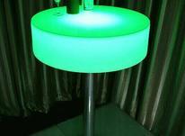 میز سوارز بلند پایه استیل سکه ای ایستاده نوری بلکلایت led در شیپور-عکس کوچک