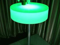 میز سوارز بلند پایه استیل سکه ای ایستاده نوری بلکلایت led در شیپور