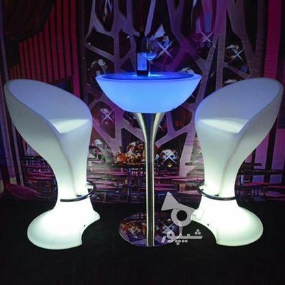 صندلی بلند پایه استیل نوری بلکلایت مناسب اپن و میز سوارز در گروه خرید و فروش لوازم خانگی در تهران در شیپور-عکس2