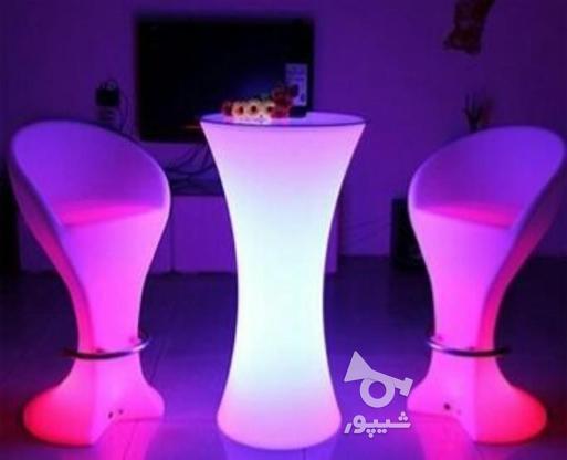 صندلی بلند پایه استیل نوری بلکلایت مناسب اپن و میز سوارز در گروه خرید و فروش لوازم خانگی در تهران در شیپور-عکس5