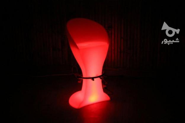 صندلی بلند پایه استیل نوری بلکلایت مناسب اپن و میز سوارز در گروه خرید و فروش لوازم خانگی در تهران در شیپور-عکس1