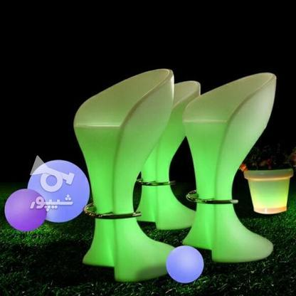 صندلی بلند پایه استیل نوری بلکلایت مناسب اپن و میز سوارز در گروه خرید و فروش لوازم خانگی در تهران در شیپور-عکس3