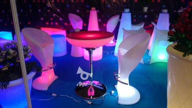 صندلی بلند پایه استیل نوری بلکلایت مناسب اپن و میز سوارز در گروه خرید و فروش لوازم خانگی در تهران در شیپور-عکس7