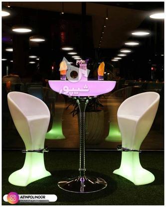 صندلی بلند پایه استیل نوری بلکلایت مناسب اپن و میز سوارز در گروه خرید و فروش لوازم خانگی در تهران در شیپور-عکس8