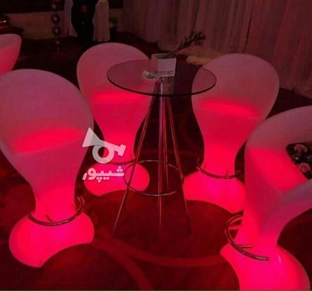 صندلی بلند پایه استیل نوری بلکلایت مناسب اپن و میز سوارز در گروه خرید و فروش لوازم خانگی در تهران در شیپور-عکس6