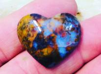 سنگ عقیق پاییزی قلب در شیپور-عکس کوچک