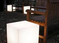 باکس مکعب مربع نشیمن نوری led روشنایی مکعبی دکوری میز سوارز  در شیپور-عکس کوچک