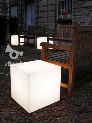 باکس مکعب مربع نشیمن نوری led روشنایی مکعبی دکوری میز سوارز  در گروه خرید و فروش لوازم خانگی در تهران در شیپور-عکس1