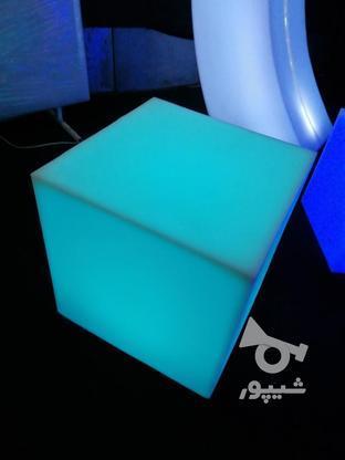 باکس مکعب مربع نشیمن نوری led روشنایی مکعبی دکوری میز سوارز  در گروه خرید و فروش لوازم خانگی در تهران در شیپور-عکس2
