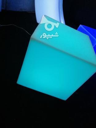 باکس مکعب مربع نشیمن نوری led روشنایی مکعبی دکوری میز سوارز  در گروه خرید و فروش لوازم خانگی در تهران در شیپور-عکس3