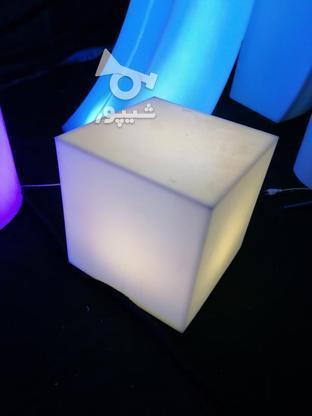 باکس مکعب مربع نشیمن نوری led روشنایی مکعبی دکوری میز سوارز  در گروه خرید و فروش لوازم خانگی در تهران در شیپور-عکس4
