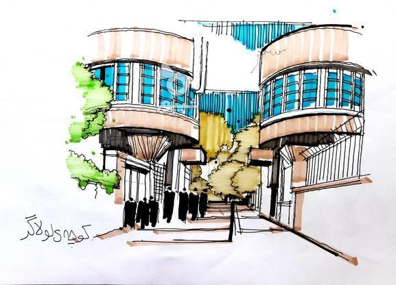 تدریس خصوصی اسکیس در روند طراحی معماری تفکر ترسیمی در گروه خرید و فروش خدمات و کسب و کار در تهران در شیپور-عکس1