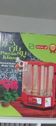 بخاری برقی پویان خزر المنت سفالی ایستاده توئست در گروه خرید و فروش لوازم خانگی در تهران در شیپور-عکس2