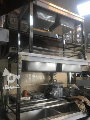 سینک تمام استیل با پایه پروفیل استیل در گروه خرید و فروش لوازم خانگی در تهران در شیپور-عکس1