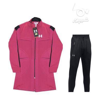مانتو شلوار ورزشی دخترانه استرج آندر آرمور سایزبندی دو رنگ در گروه خرید و فروش ورزش فرهنگ فراغت در تهران در شیپور-عکس2