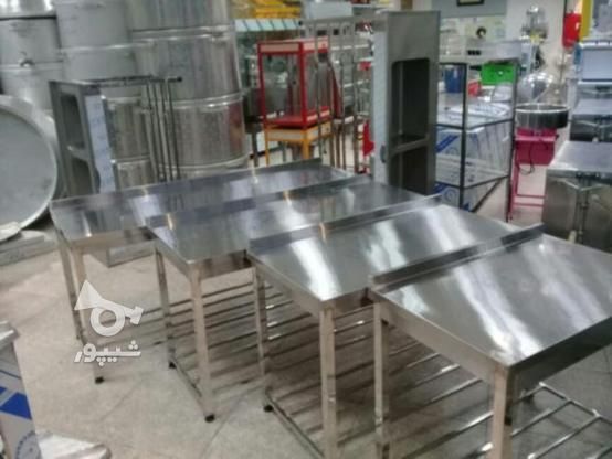 میز کار تمام استیل محکم در گروه خرید و فروش صنعتی، اداری و تجاری در تهران در شیپور-عکس1