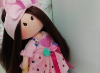 عروسک روسی با تل پاپیون صورتی  در شیپور-عکس کوچک