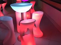 صندلی کمر باریک بلند اپن نوری ledمیز سوآرز ال ای دی چراغ دار در شیپور-عکس کوچک