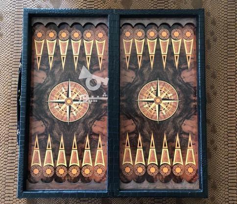 تخته شطرنج طرح چرم در گروه خرید و فروش ورزش فرهنگ فراغت در مازندران در شیپور-عکس1