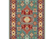 فرش ماشینی ساوین طرح گبه دستباف فانتزی طوبی آبی در شیپور-عکس کوچک
