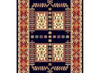 فرش ماشینی ساوین طرح گبه دستباف فانتزی قشقایی سرمه ای در شیپور-عکس کوچک