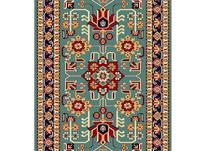 فرش ماشینی ساوین طرح گبه دستباف فانتزی مهربان آبی در شیپور-عکس کوچک