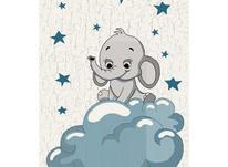 فرش ماشینی ساوین طرح کودک فیل مهربان 4049 در شیپور-عکس کوچک