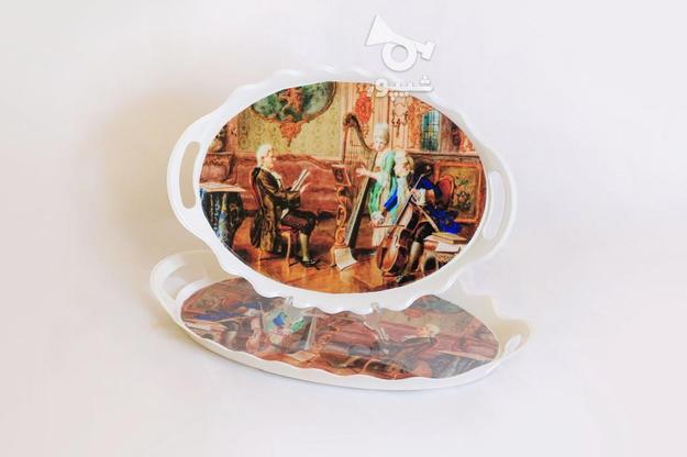 سرویس سینی چایخوری ملامین 3 عددی در گروه خرید و فروش لوازم خانگی در تهران در شیپور-عکس1