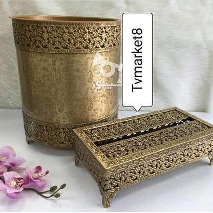 سطل و دستمال آنتیک پرگل در گروه خرید و فروش لوازم خانگی در آذربایجان غربی در شیپور-عکس1