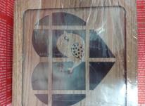 جعبه تی بگ چوبی طرح پرنده در شیپور-عکس کوچک