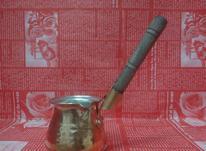 شیرجوش/قهوهجوش مسی دسته چوبی کوچک  در شیپور-عکس کوچک