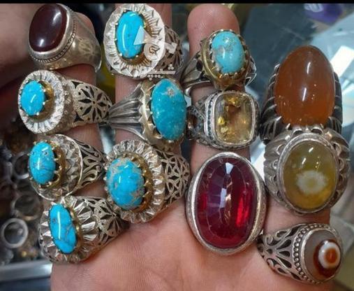انگشتر نقره یاقوت شجر شمس بابا قوری فیروزه و....  در گروه خرید و فروش لوازم شخصی در خراسان رضوی در شیپور-عکس3