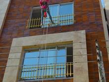 کار در ارتفاع بدون داربست کار با طناب رو ارتفاع در شیپور