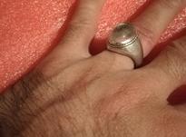 انگشتر قدیمی مردانه نقره (خط)  در شیپور-عکس کوچک