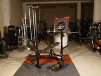 دستگاه 48 حرکته بدنسازی باتجهیزات کامل دمبل و هالتر در شیپور