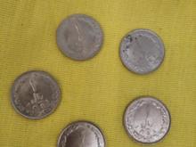 سکه قدیمی یک ریالی پنج عدد  در شیپور