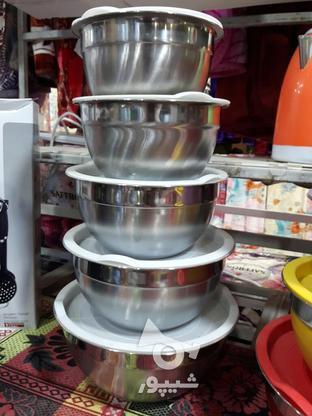 کاسه 5تیکه  استیل در گروه خرید و فروش خدمات و کسب و کار در بوشهر در شیپور-عکس1