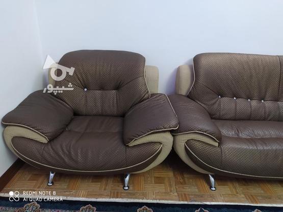یک سرویس مبل راحتی چرم در گروه خرید و فروش لوازم خانگی در زنجان در شیپور-عکس3