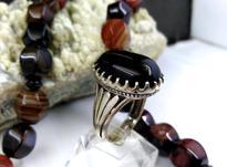 انگشتر نقره مردانه عقیق مشکی نگین مشکی در شیپور-عکس کوچک