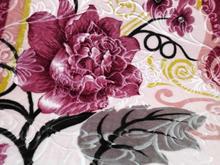 پتو پریما تک رنگ و گلدار گل برجسته تک نفره در شیپور