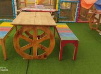 میز و نیمکت چوبی در شیپور-عکس کوچک