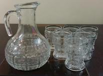 پارچ و لیوان قدیمی حک شده ایتالیایی در شیپور-عکس کوچک