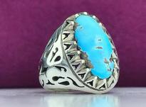 انگشتر نقره فیروزه نیشابور عجمی اصل و طبیعی  در شیپور-عکس کوچک