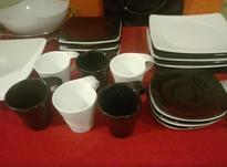 سرویس 6 نفره چینی اصل ژاپن با یک کاسه و فنجان و زیره اضافه. در شیپور-عکس کوچک