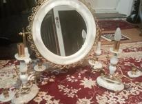 آینه شمعدان برنزومرمر در شیپور-عکس کوچک