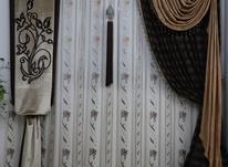 پرده پذیرایی بازیرپرده کتان. در شیپور-عکس کوچک